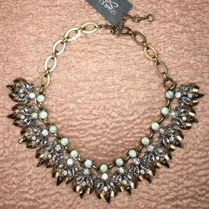SOLD Sparkling Sage Statement Necklace